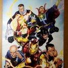 New Avengers Illuminati Black Bolt Dr Strange Namor Marvel Poster by Jim Cheung