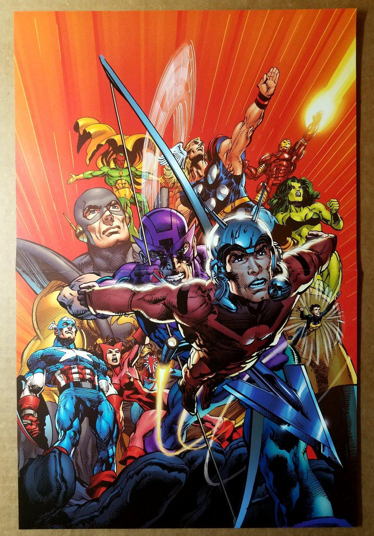 Avengers Captain America Hawkeye Thor Marvel Comic Poster by John Cassaday