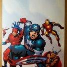 Avengers Captain America Thor Iron Man Ant Man Marvel Poster by Stuart Immomen