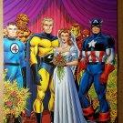 Avengers Fantastic Four Captain America Marvel Comic Poster by John Romita