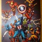 Avengers Iron Man Captain America Thor Cage Marvel Comic Poster by Tom Grummett