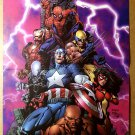 Avengers Luke Cage Captain America Wolverine Marvel Comic Poster by David Finch