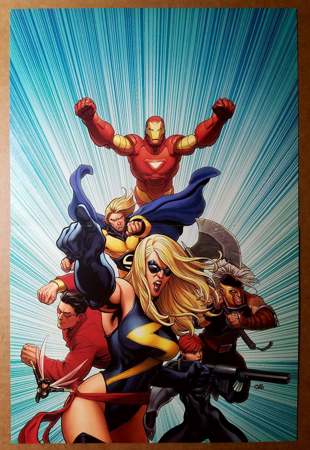 Avengers Ms Marvel Ares Black Widow Iron Man Marvel Comics Poster by Frank Cho