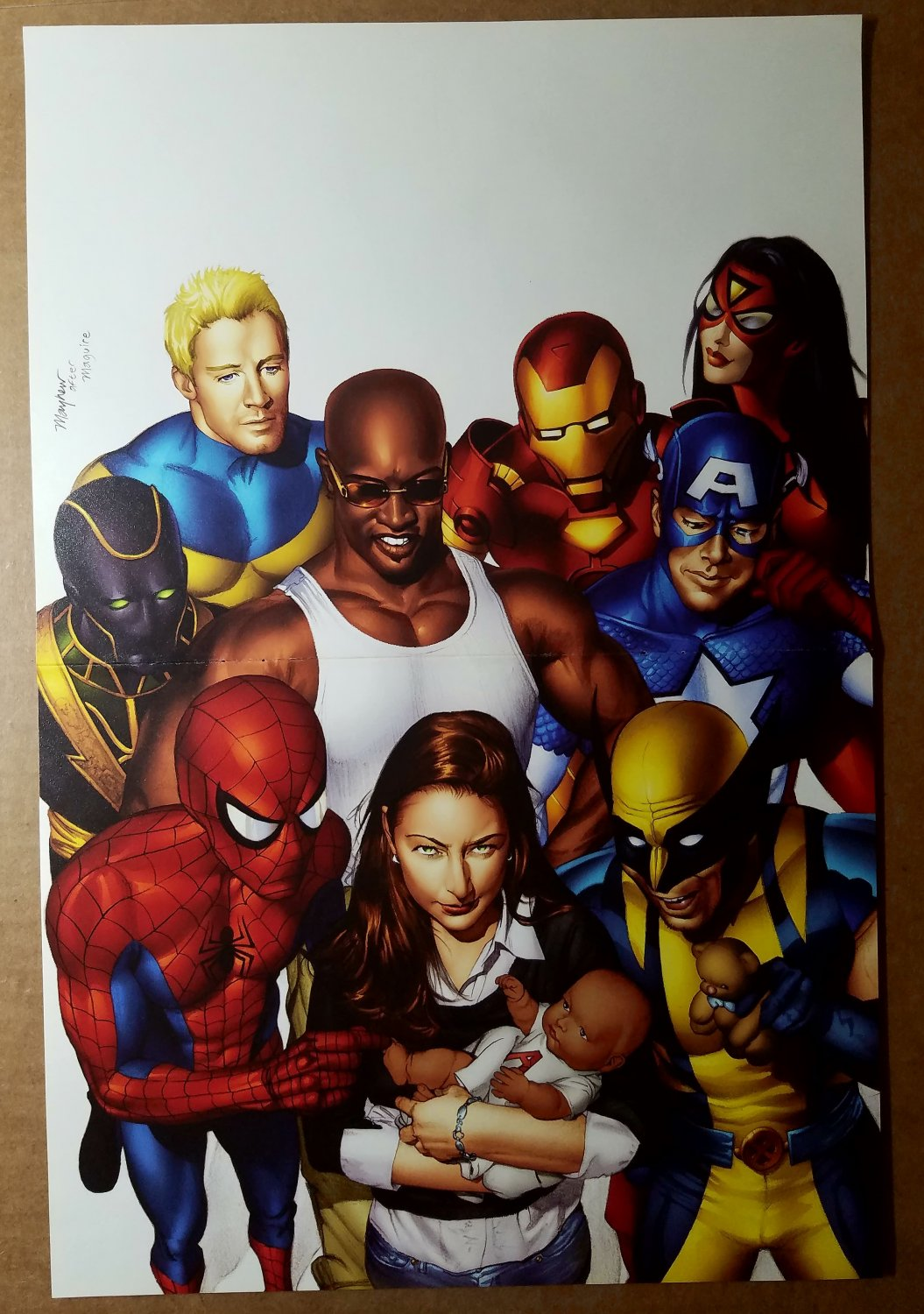 Avengers Pulse Luke Cage Wolverine Captain America Marvel Poster by Mike Mayhew