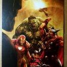 Avengers Skrulls Thor Iron Man Hulk Marvel Comics Poster by Aleksi Briclot