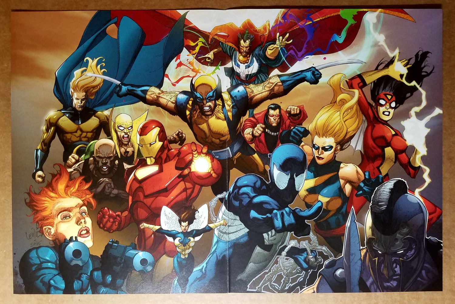 Black Widow Iron Man Fist Dr Strange Ms Marvel Comics Poster