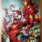 Ms Marvel Iron Man Sentry Female Carnage Spider-Man Marvel Poster by Mike Bagley