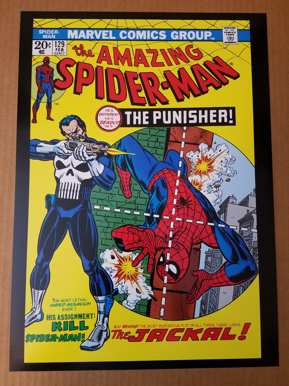 Amazing Spider-man 1st Punisher Jackal Marvel Comics poster by John Romita