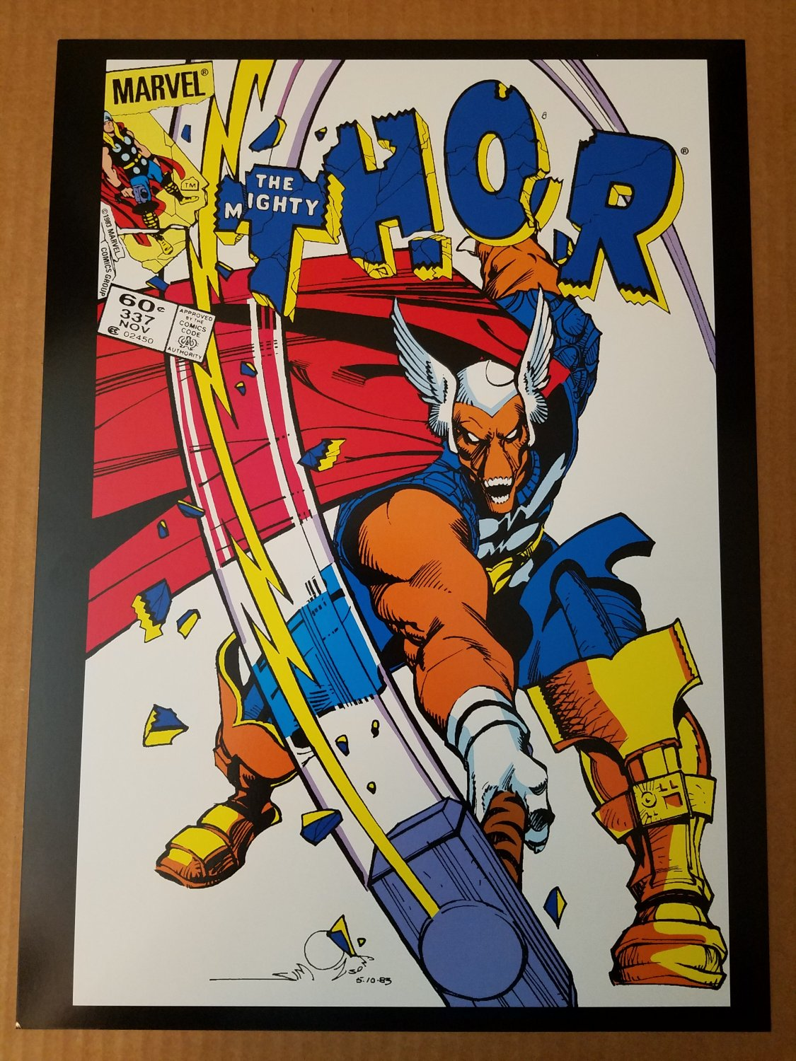 Thor 337 First Beta Ray Bill Marvel Comics Poster by Walt Simonson