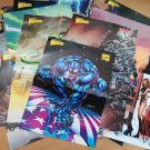 Mixed lot of 25 different comic posters Marvel Image Dark Horse Wizard Chaos