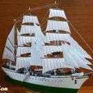 "Soviet Training Tall Ship ""Tovarisch"" (sailboat ""Comrade"") Model Kit 1/185 Boat Gift Toy Boy"