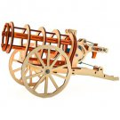 """Wooden Kit 3D constructor """"Cannon"""" Gun puzzle Gift Toy Boy"""