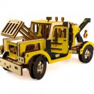 "Wooden Kit 3D constructor ""Tow Truck"" Car puzzle Automobile Motorcycle Gift Toy Boy"