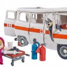 Doll Masha and the Bear Masha Ambulance kit, Toy cartoon characters Russia Gift