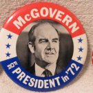 George McGovern in 1972 for President three different pins