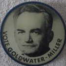 """Vote Barry Goldwater-Miller For President 2"""" flicker pin"""