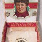 Harvard University Football scarce cigar box multi-labeled circa 1880's