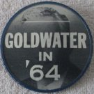 "Goldwater '64  Presidential campaign 2"" flicker pin"