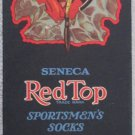 Seneca Red Top Sportsmen's Socks colorful box early 1900's