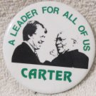 "Jimmy Carter & Walter Mondale for President two different 2"" pins"