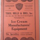 Original Mills & Brother's Ice Cream Manufacturers Equipment catalog 1890's