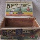 Scarce 5 Penny Weight cigar/tobacco box circa 1880