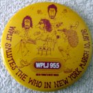 Rock & Roll The Who in Concert WPLJ 95.5 New York March 1976 scarce pin