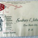 Vintage Advertising Benson's Porous Plaster unused company mailing envelope 1931