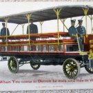 Advertising RPPC Detroit Metropolitan Omnibus Co full color card early 1900's