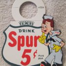 "Soda Advertising ""Drink Spur"" Bottle Topper mint unused 1968"