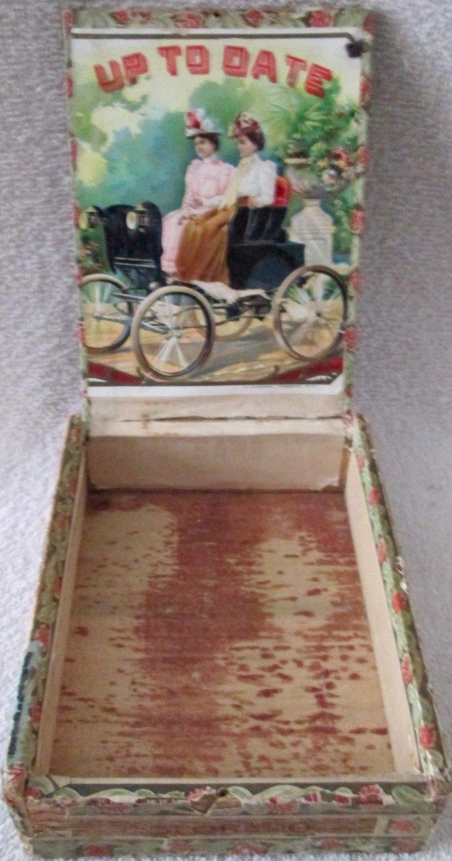 Automotive Up To Date Ladies in Automobile cigar/tobacco box circa 1901-02