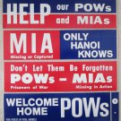 Original Anti Vietnam War set of bumper stickers mint unused