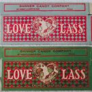 Early Vintage Love Lass candy boxes Banner Candy company circa 1910-20's