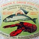 Vintage early celluiod advertising pocket mirror Frank Davis Fish Company