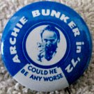 Archie Bunker in 1972 political pin excellent condition