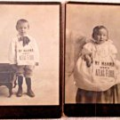 Unusual pair of children photos My Mama Uses Atlas Flour vintage photos