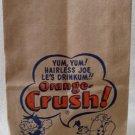 Orange Crush Little Abner comic character paper bag circa 1940-50's mint unused