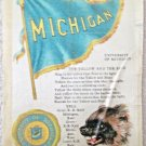 Tobacco Silk S23 University of Michigan excellent condition circa 1910
