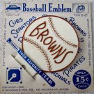 St. Louis Browns scarce 1952 bicycle or car plastic baseball emblem mint on card