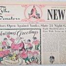 The Washington Senators American League News Vol 1 No1 Dec 1966 Mickey Mantle