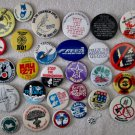 Unusual Anti-Nuclear-Disarmament collection of 29 pins 1960's-70's near mint