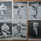 Baseball Magazine lot of six different player photo pages 1930's-40's