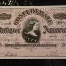 $100 Confederate Currency Facsimile Postcard