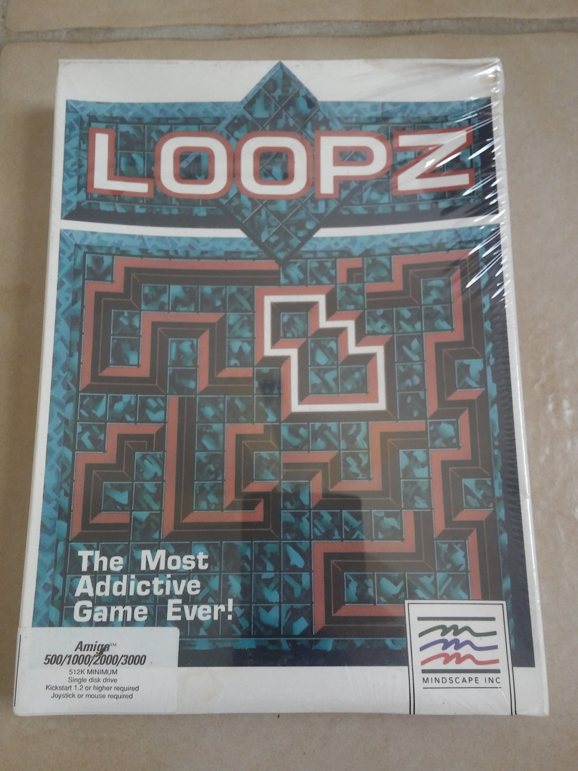 Loopz For Commodore Amiga, NEW FACTORY SEALED, Mindscape
