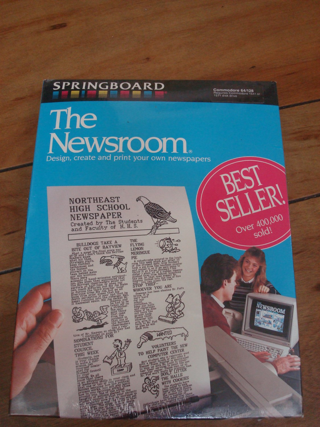 The Newsroom For Commodore 64 128, NEW FACTORY SEALED, Springboard