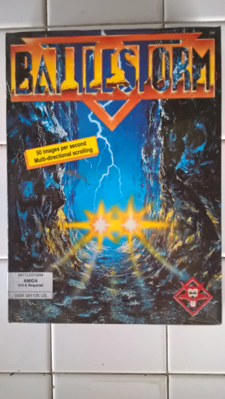 BattleStorm For Commodore Amiga, NEW FACTORY SEALED, Titus B-Stock