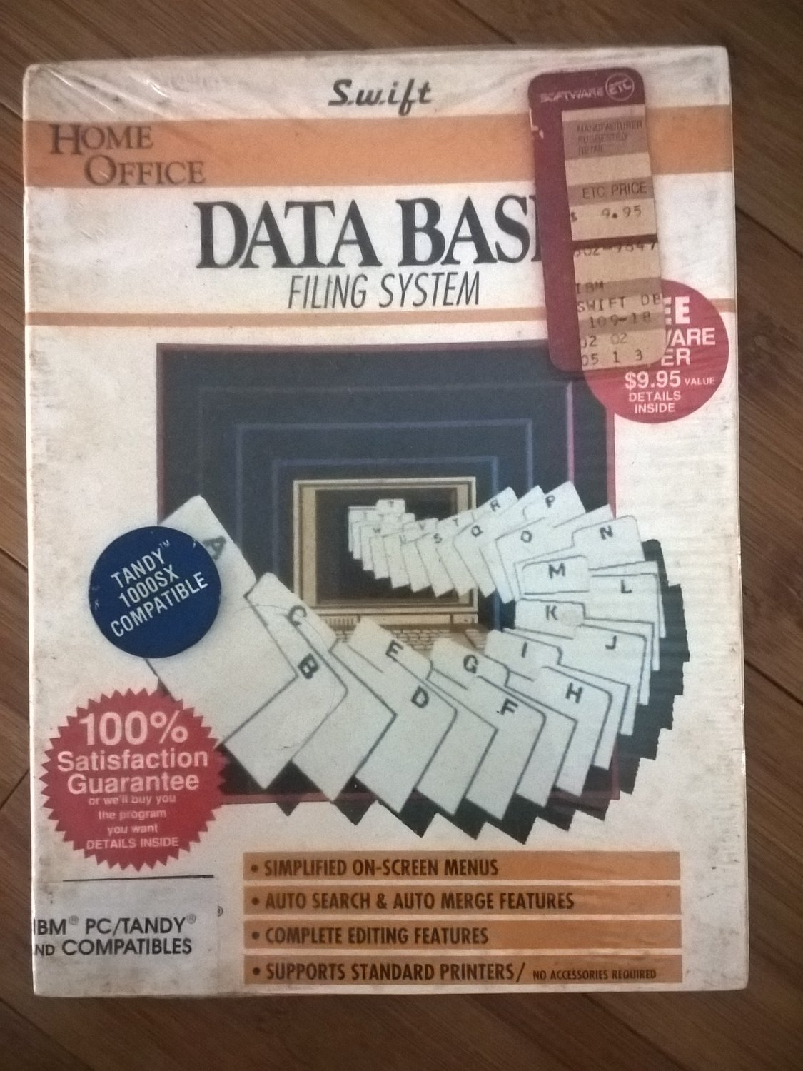 DataBase Filing System For IBM PC/Tandy & Compatibles, NEW FACTORY SEALED, Swift Cosmi