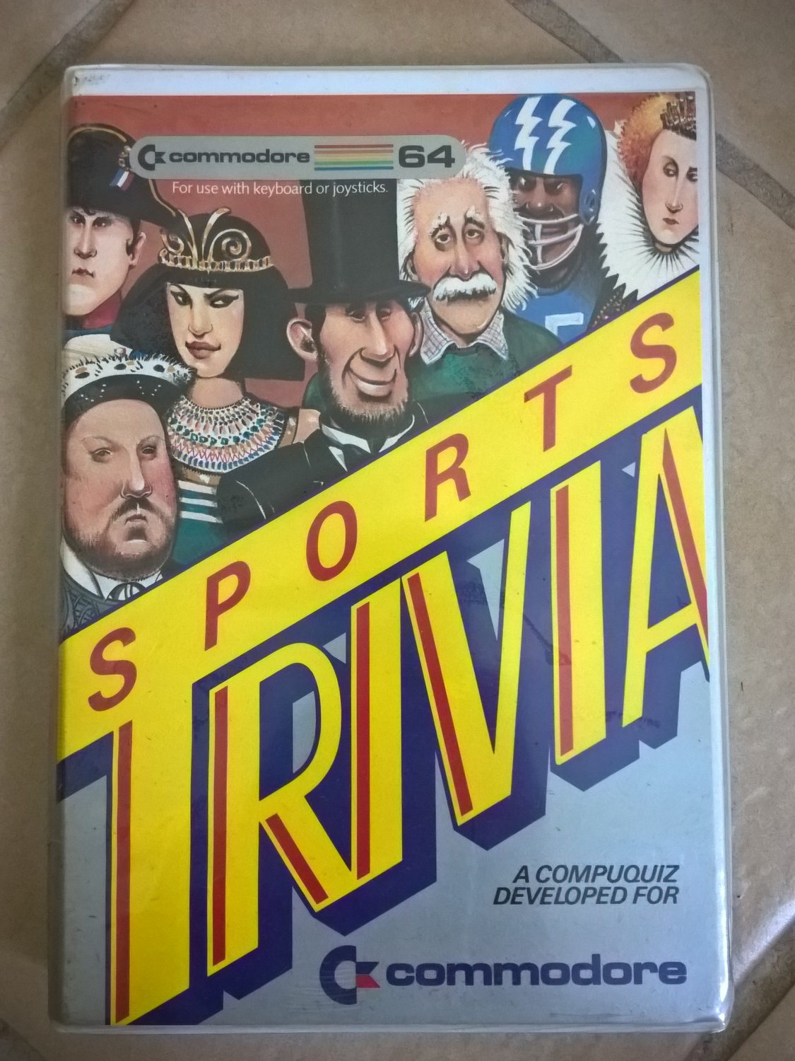 Sports Trivia For Commodore 64/128, NEW FACTORY SEALED