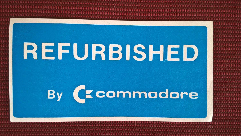 Genuine �REFURBISHED By Commodore� Label / Sticker, BRAND NEW, C= & Amiga