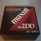 """Maxell 10-Pack 3.5"""" DSDD Floppy Disks, IN BOX, Used MF2DD"""